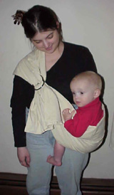Hempers-ling baby sling from the Born to Love Catalogue
