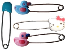 Image: Baby Diaper Safety Pins for Adults