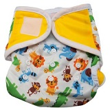 Image: Cloth Baby Diapers from BabyZaba - inner layer is made out of an absorbent suede material while the outer layer is made out of a moisture-resistant fabric to prevent messes