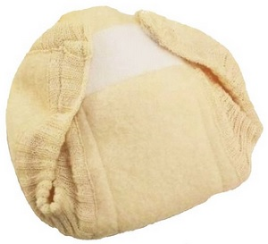 Image: Disana 100% Boiled Merino Wool Diaper/Cover Made in Germany - prewashed and slightly felted - leak proof and highly absorbent