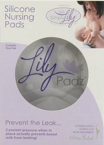 Image: Lily Padz Reuseable Nursing Pads - prevents leaking rather than absorbing, keeping clothes dry