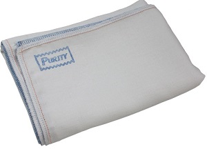 Image: Purity Adult Flat Diaper | perfect blend of luxurious softness, superior absorbency and rugged durability | 100 % Cotton Gauze Weave | Dry quicker than prefolds