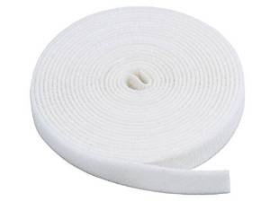 Image: Fastening Tape 0.75-inch Hook and Loop Fastening Tape 5 yard/roll - White