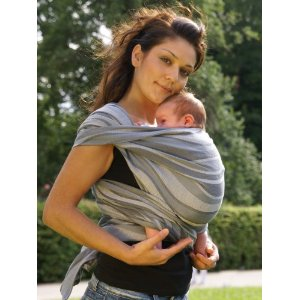 Image: Didymos Waves Baby Wrap Sling carrier - Encourages closeness and bonding between baby and parent