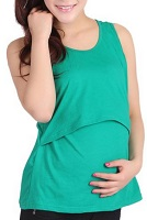 Image: Yoyorule Pregnant Maternity Clothes Nursing Tops Breastfeeding Vest T-Shirt