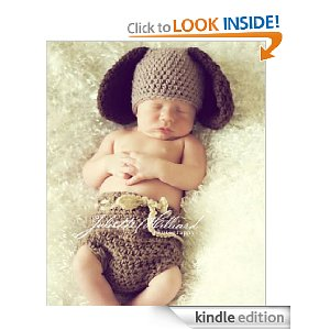Crochet puppy hat and diaper cover set Pattern